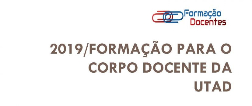 2019 Formação Docentes baner