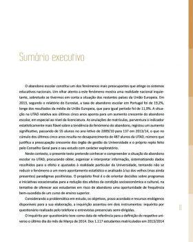 Abandono na Universidade de Trás os Montes e Alto Douro Estudo Exploratório 12