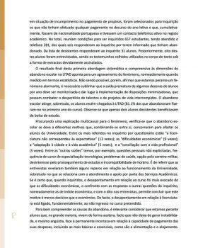 Abandono na Universidade de Trás os Montes e Alto Douro Estudo Exploratório 13