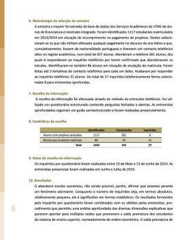 Abandono na Universidade de Trás os Montes e Alto Douro Estudo Exploratório 17