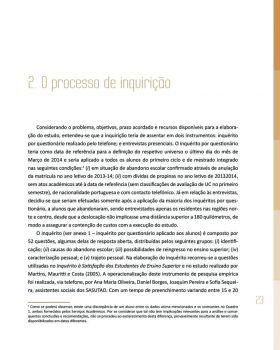Abandono na Universidade de Trás os Montes e Alto Douro Estudo Exploratório 24