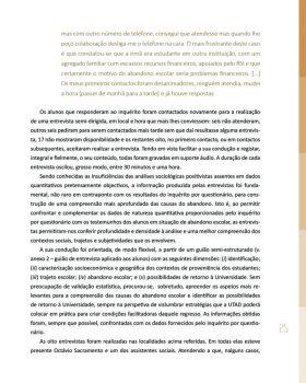 Abandono na Universidade de Trás os Montes e Alto Douro Estudo Exploratório 26