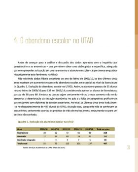 Abandono na Universidade de Trás os Montes e Alto Douro Estudo Exploratório 32