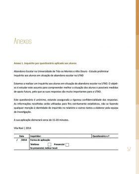 Abandono na Universidade de Trás os Montes e Alto Douro Estudo Exploratório 58